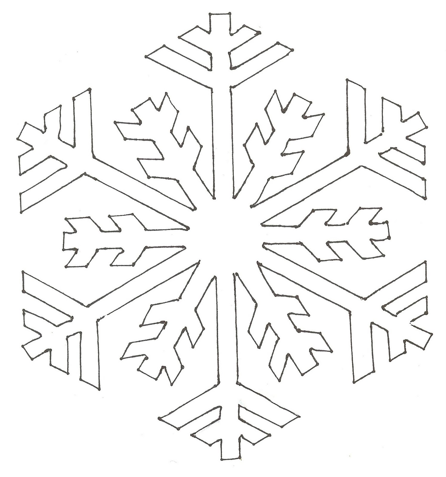Snowflake Pattern Coloring Pages
